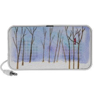 Doodle del bosque del invierno iPhone altavoz
