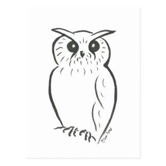 Doodle del búho postal