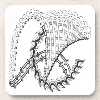 Doodle del extracto de Chickenwheel Posavasos