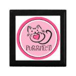 Doodle del gatito - rosa, Purrfect Caja De Regalo