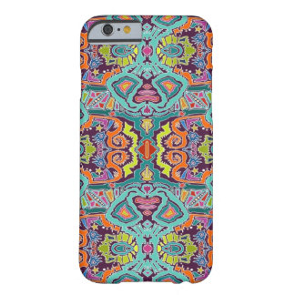 doodle del ikat funda para iPhone 6 barely there