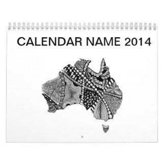 Doodle del mapa de Australia Calendarios