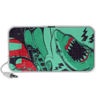 Doodle del tiburón iPhone altavoz