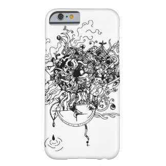 Doodle design black barely there iPhone 6 case