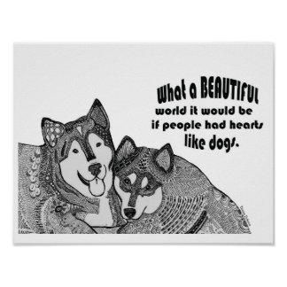Doodle Dogs Poster #1 (with quote)