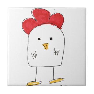 Doodle Dolby del pollo lindo Azulejo Cuadrado Pequeño