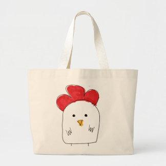 Doodle Dolby del pollo lindo Bolsa Tela Grande