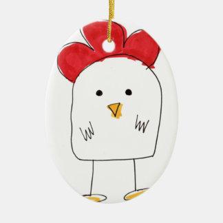 Doodle Dolby del pollo lindo Adornos De Navidad