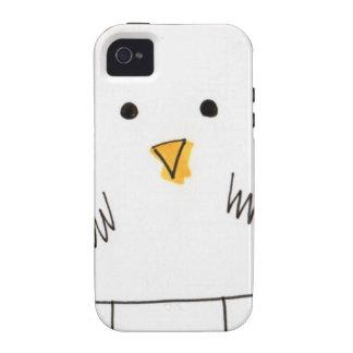 Doodle Dolby del pollo lindo iPhone 4 Carcasa