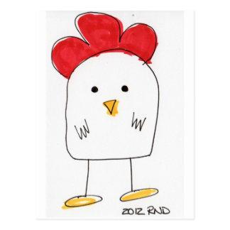 Doodle Dolby del pollo lindo Tarjetas Postales