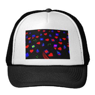 Doodle eléctrico del amor de los colores gorras