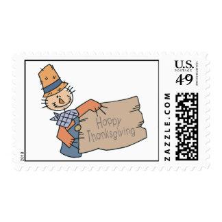 Doodle feliz de la acción de gracias estampilla