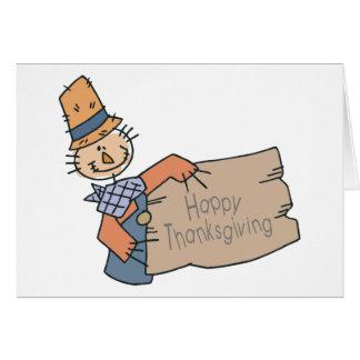 Doodle feliz de la acción de gracias tarjeta de felicitación