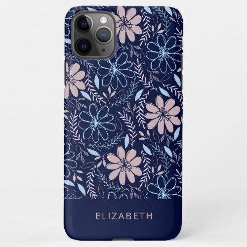 Doodle floral pattern Phone Case