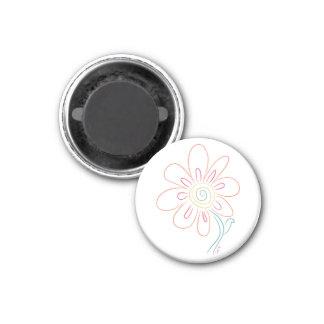Doodle Flower Magnet