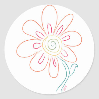 Doodle Flower Stickers