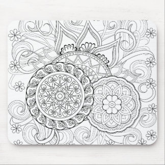 Doodle Flowers And Mandalas Mouse Pad