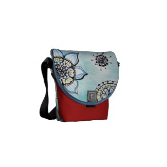 Doodle flowers Mini Messenger Bag