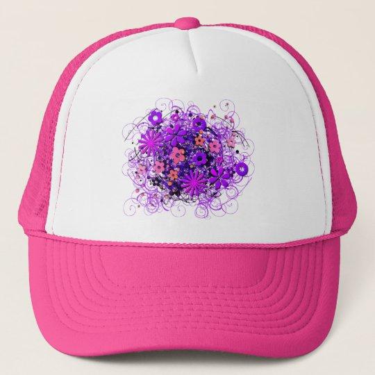 Doodle Flowers Trucker Hat