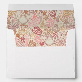 Doodle food pattern dessert envelope
