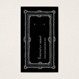 Doodle Frame Black Vertical Earring Back Cards