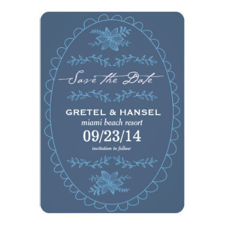doodle frame save the date card