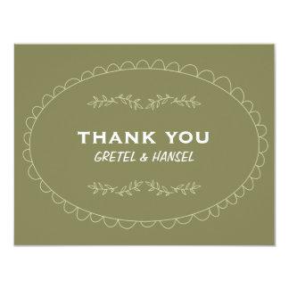 doodle frame thank you card