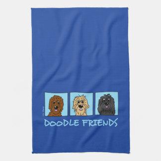 Doodle Friends Hand Towel