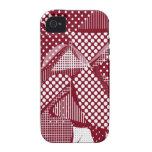 Doodle Fun 06 red iPhone 4 Cover