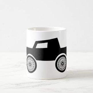 Doodle Graphics Black Truck Big Tires Mug