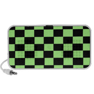 Doodle Green Black Checker Notebook Speakers