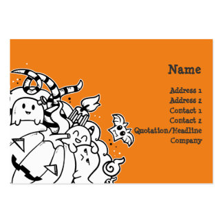 Doodle Halloween Monsters Business Card