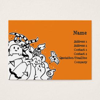 Doodle Halloween Monsters Business Card
