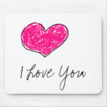 Doodle Heart Mousepads