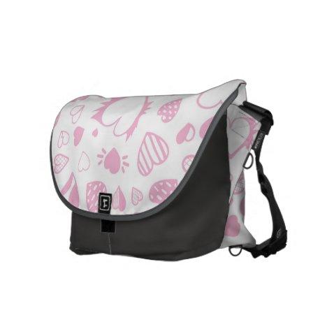 doodle Hearts Courier Bag