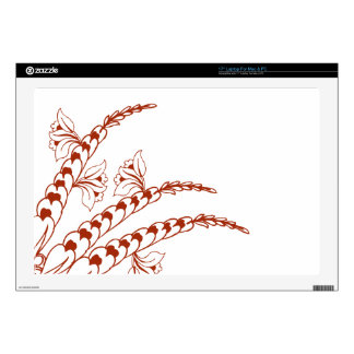 "Doodle Henna Pattern 17"" Laptop Decals"