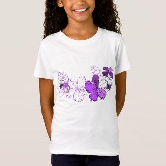 Doodle Hibiscus Hawaiian Floral Illustration T-Shirt