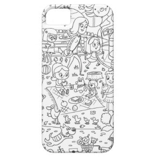 doodle i spy in the park coloring iPhone SE/5/5s case