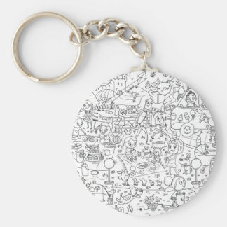 doodle i spy in the park coloring keychain