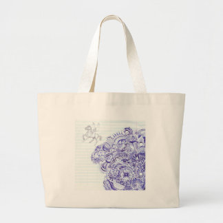 Doodle image created from KIds Art design Canvas Bags