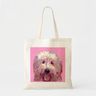 Doodle in Pink Dazzlilng Colors Tote Canvas Bag