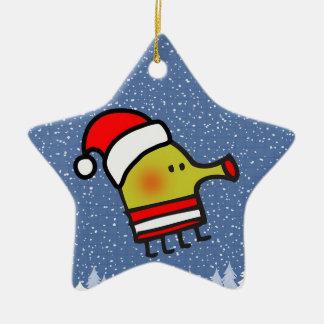 Doodle Jump Christmas Star Double-Sided Star Ceramic Christmas Ornament