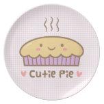 Doodle lindo de la empanada de Cutie para los Platos Para Fiestas