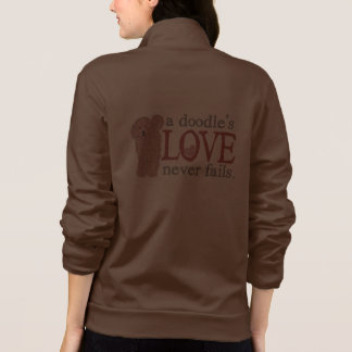 Doodle Love - Apricot GoldenDoodle Printed Jackets