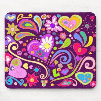 doodle love mouse pad