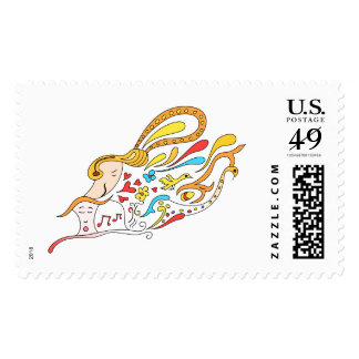 Doodle love postage