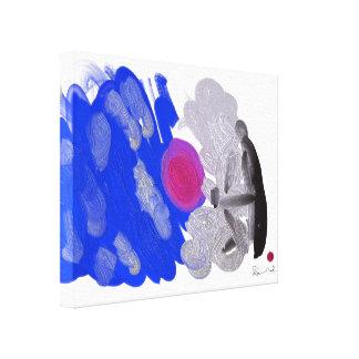 """doodle man"" Premium Wrapped Canvas (Gloss)"