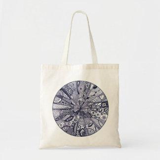 Doodle Mandala black/white Tote Bag