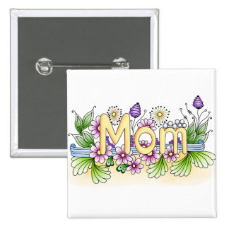 Doodle Mom 2 Inch Square Button