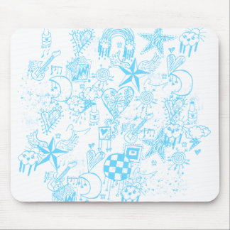 Doodle Mousepad de los azules cielos